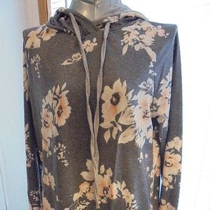 Tops - Women's Floral Hoodie large NEW in Bag